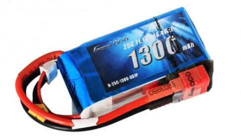 Gens Ace 1300mAh 3S 25C Lipo battery