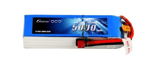 5000mAh 3S 45C Lipo battery
